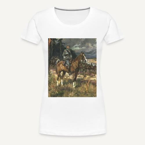 Pułsudski na kasztance - damska - Koszulka damska Premium
