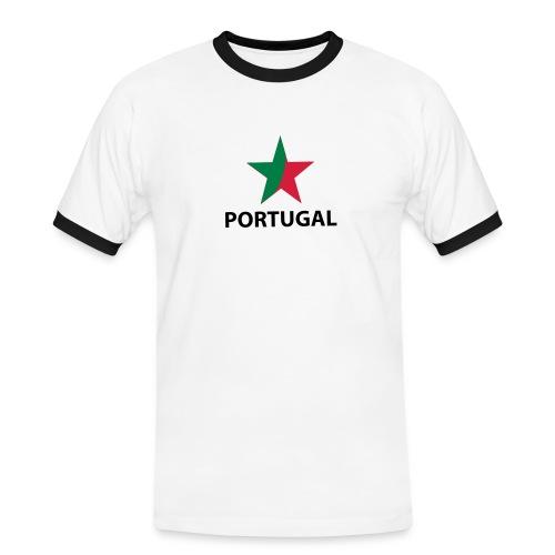 maglietta fan calcio portugal - Maglietta Contrast da uomo
