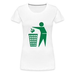 Bin the Monarchy - Women's Premium T-Shirt