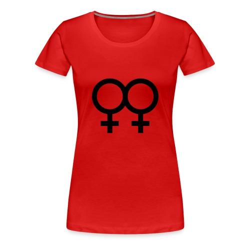 lesbian woman red - Women's Premium T-Shirt