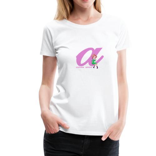 T-Shirt Classique Femme Lettrix - T-shirt Premium Femme