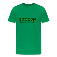 T-Shirts ~ Men's Premium T-Shirt ~ Sutton - Evil Genius