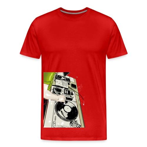 Men: Turntables t-shirt - Mannen Premium T-shirt