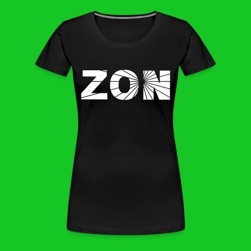 zon dameshirt zwart - Vrouwen Premium T-shirt