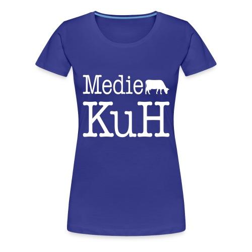 Girlieshirt, helles Brustlogo - Frauen Premium T-Shirt
