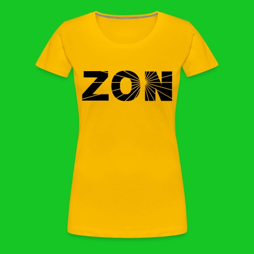 zon dameshirt geel - Vrouwen Premium T-shirt