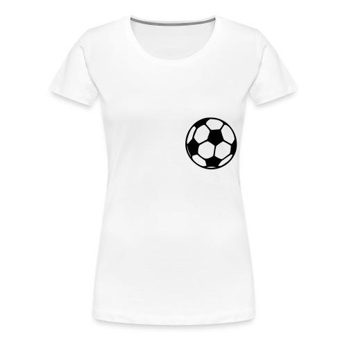 Girlieshirt Fussball - Frauen Premium T-Shirt