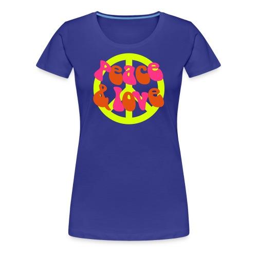 Peace and Love - Women's Premium T-Shirt