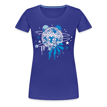 Royal blue Disco Ball Women's T-Shirts