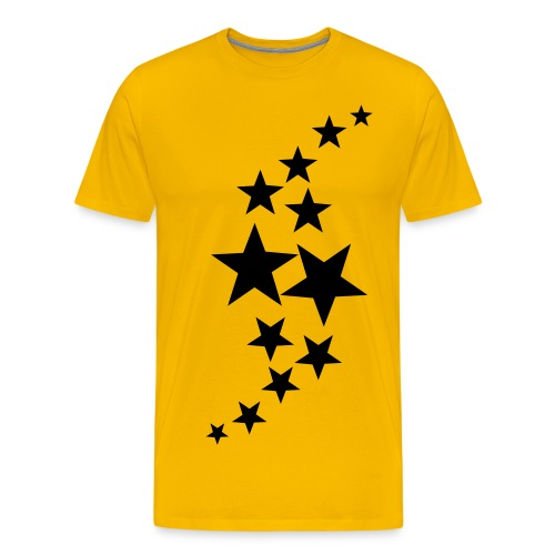 CC-yellow-stars - Premium T-skjorte for menn