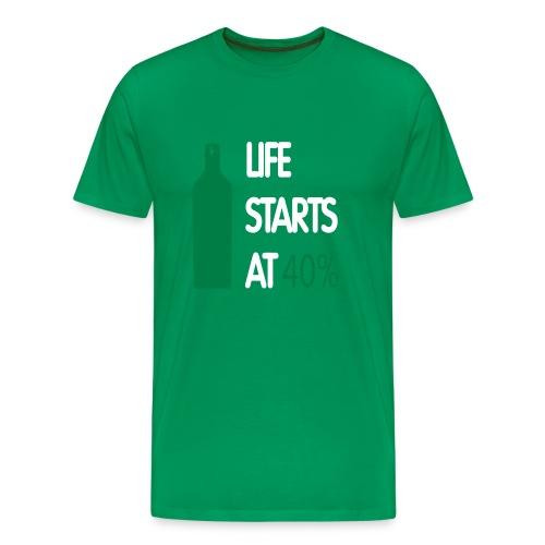40% Shirt - Mannen Premium T-shirt