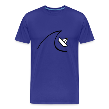 Diva blue Sailing Boat in the Waves Men's T-Shirts