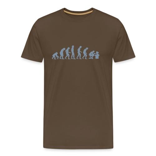 Evolution of Human PC - Mannen Premium T-shirt