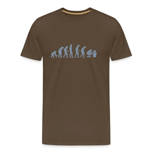 Evolution of Human PC - Mannen Premium T-shirt