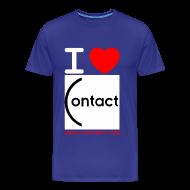 Tee shirts ~ T-shirt Premium Homme ~ I love Contact