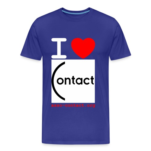 I love Contact - T-shirt Premium Homme