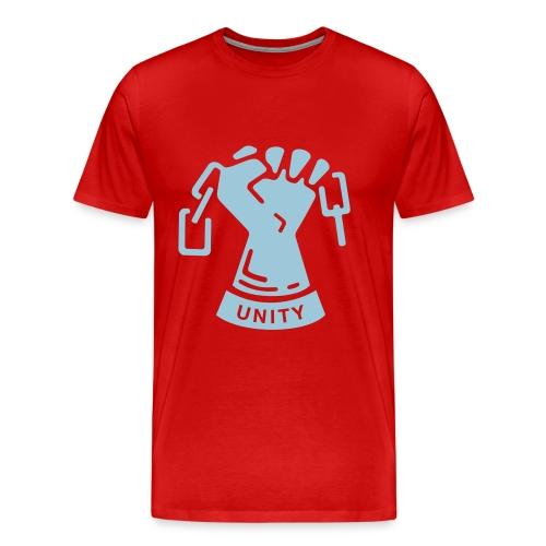 'Burgundy Red' Unity Tee - Men's Premium T-Shirt