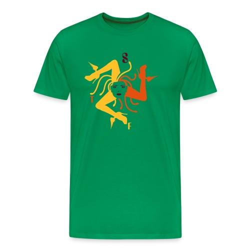 Trinacria homme Kaki - Men's Premium T-Shirt