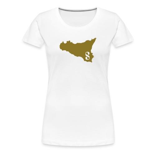 Sicilia Femme Or Blanc - Women's Premium T-Shirt