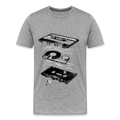 cassette tape - Herre premium T-shirt