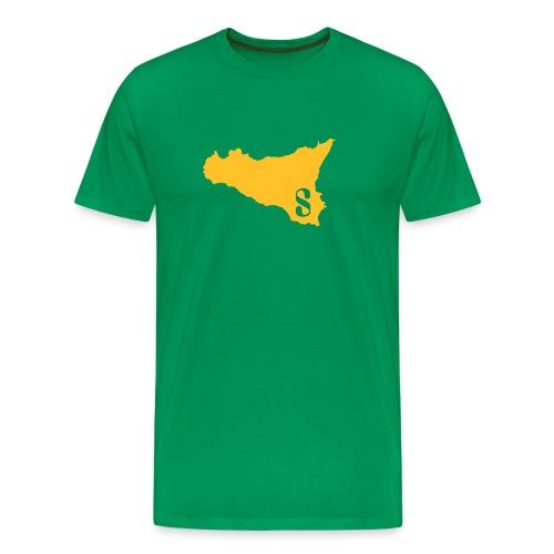 Sicilia Olive Orange - Men's Premium T-Shirt