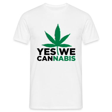 Sand beige Yes we Cannabis 3 (2c) Men's T-Shirts