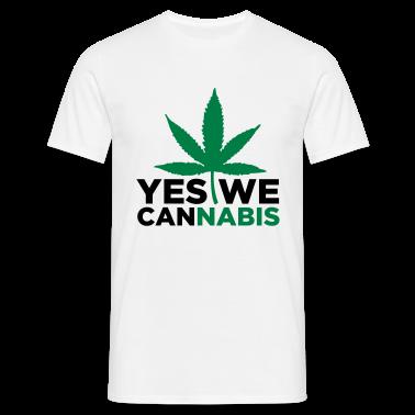 Sand beige Yes we Cannabis 3 (2c) Men's T-Shirts