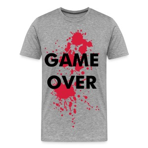 game over homme gris - T-shirt Premium Homme