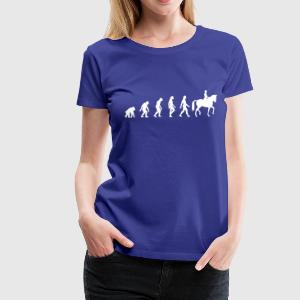 Divablau Horse Riding Evolution 1 (1c) T-Shirts - Frauen Premium T-Shirt