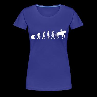 Diva blue Horse Riding Evolution 1 (1c) Women's T-Shirts