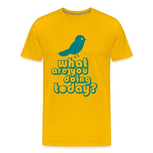 Mannen t-shirt klassiek Twitteren - Mannen Premium T-shirt