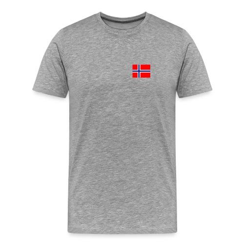 T-skjorte norsk flagg - Premium T-skjorte for menn