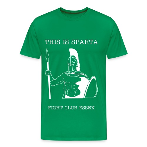 SPARTA TEE - GREEN - Men's Premium T-Shirt
