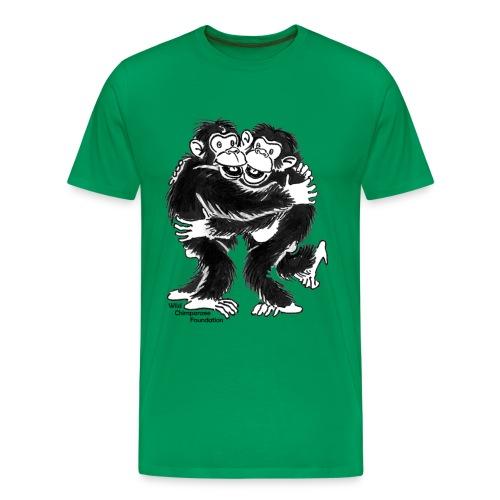 Chimpanzees Men's Basic T-Shirt - Men's Premium T-Shirt