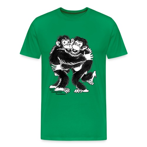 Chimpanzees Men's Basic T-Shirt - Men's Premium T-Shirt