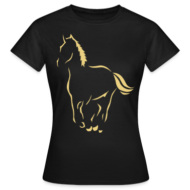 Outline art Riding Pony Horse Art  T-Shirts