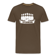 T-Shirts ~ Männer Premium T-Shirt ~ i love bowling