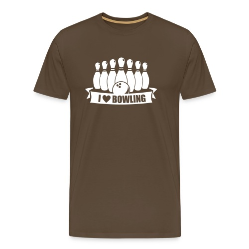 i love bowling - Männer Premium T-Shirt