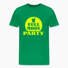 Kelly green full moon party Men's T-Shirts