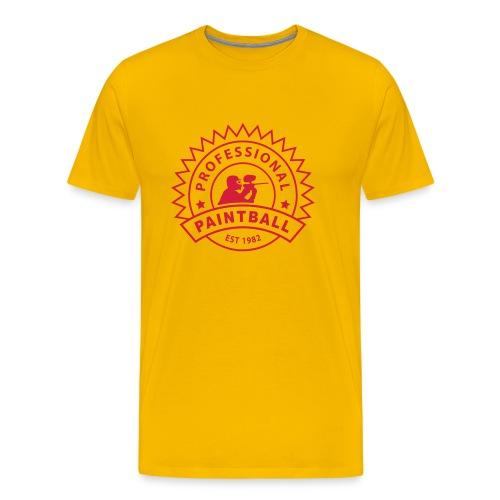 Gelb prof_paintball_1 T-Shirts - Männer Premium T-Shirt