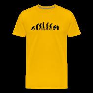 T-shirts ~ Herre premium T-shirt ~ Evolution