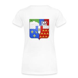 Les armoiries de la Réunion (version femme) - T-shirt Premium Femme