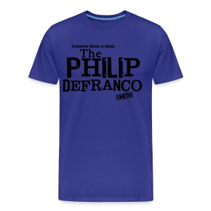 Philip DeFranco Show Shirt (Male) w/ black text - Men's Premium T-Shirt