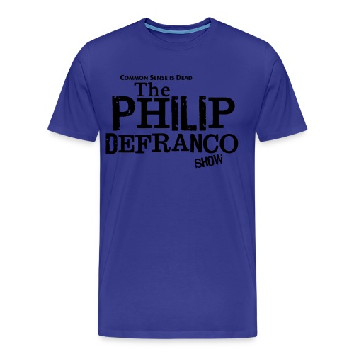 Philip DeFranco Show Shirt (Male) w/ black text - Men's Premium T-Shirt