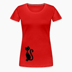 Red Retro kitty cat 2 combine it :) Women's T-Shirts