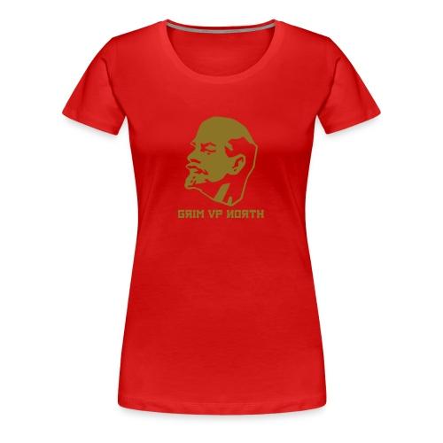 Lenin (Gold Metallic) - Women's Premium T-Shirt