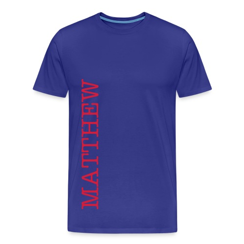 customisable side name tshirt - Men's Premium T-Shirt