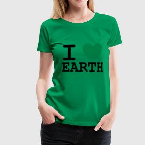 I *heart* Earth - Women's Premium T-Shirt