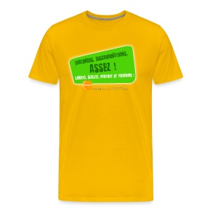 LGBT Pride Paris 2010 - Violences, discriminations : assez ! - T-shirt Premium Homme