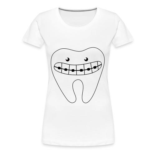 Zahnspangensmile - Frauen Premium T-Shirt